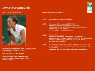 2006  :     Vainqueur � Nantes (25.000$)