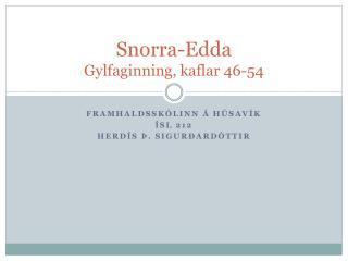 Snorra-Edda Gylfaginning, kaflar 46-54