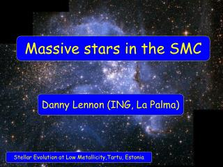 Massive stars in the SMC