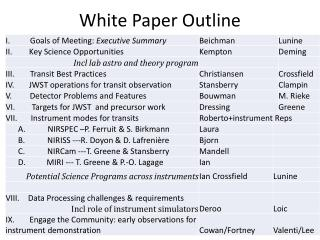White Paper Outline