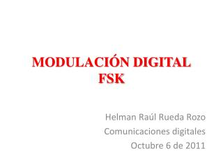 MODULACI�N DIGITAL FSK