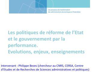 Introduction –  l'essor des politiques de réformes administratives depuis les années 1970