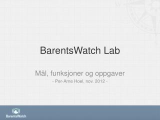BarentsWatch Lab