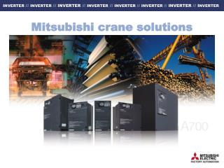 Mitsubishi crane solutions
