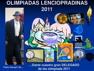 OLIMPIADAS LENCIOPRADINAS 2011