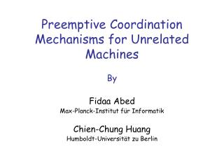 Preemptive Coordination Mechanisms for Unrelated Machines