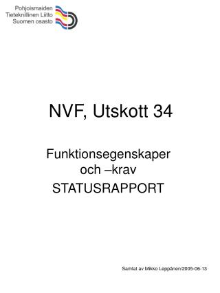 NVF, Utskott 34