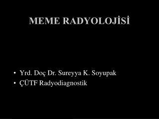 MEME RADYOLOJİSİ
