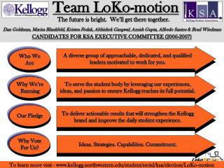 Team LoKo-motion   The future is bright.  We�ll get there together.
