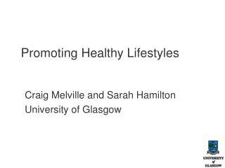 Promoting Healthy Lifestyles