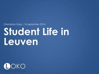 Student Life in Leuven