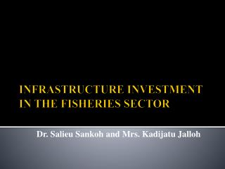 INFRASTRUCTURE INVESTMENT IN THE FISHERIES SECTOR