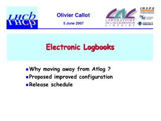 Electronic Logbooks