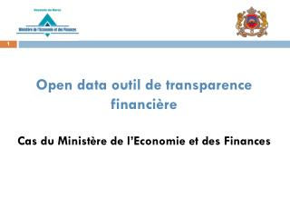Open data outil de transparence  financière Cas du Ministère de l'Economie et des Finances
