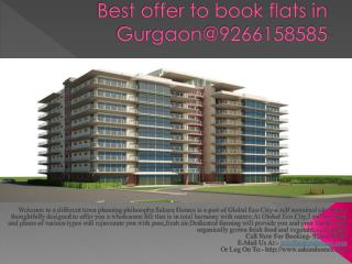 Best offer to book flats in Gurgaon@9266158585