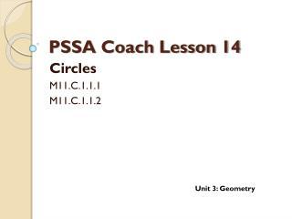 PSSA Coach Lesson 14