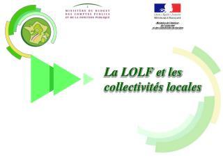 La LOLF et les collectivités locales