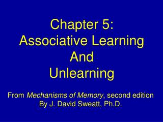 Chapter 5: Associative Learning And Unlearning