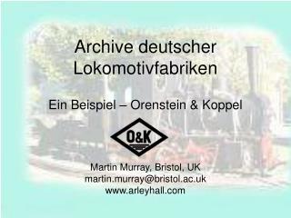 Archive deutscher Lokomotivfabriken