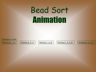 Bead Sort Animation