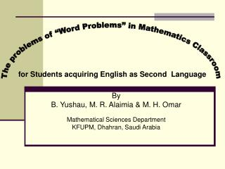 By B. Yushau, M. R. Alaimia & M. H. Omar Mathematical Sciences Department