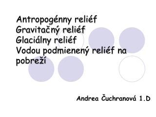 Andrea Čuchranová 1.D