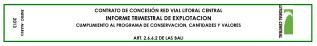 CONTRATO DE CONCESIÓN RED VIAL LITORAL CENTRAL INFORME TRIMESTRAL DE EXPLOTACION