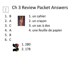 Ch  3 Review Packet Answers