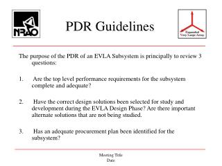 PDR Guidelines