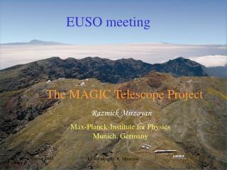 The MAGIC Telescope Project