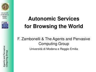 Autonomic Services  for Browsing the World