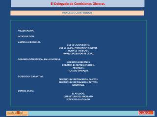El Delegado de Comisiones Obreras