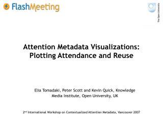 Attention Metadata Visualizations: Plotting Attendance and Reuse