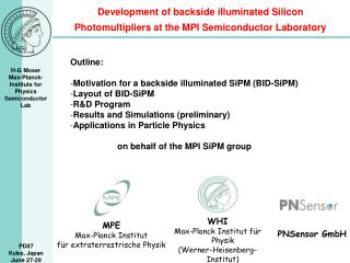 Development of backside illuminated Silicon Photomultipliers at the MPI Semiconductor Laboratory