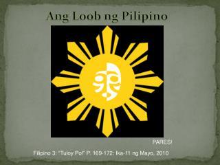 Ang  Loob ng  Pilipino