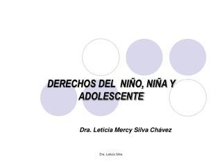 DERECHOS DEL  NI�O, NI�A Y ADOLESCENTE