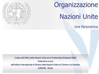 Organizzazione Nazioni Unite Una Panoramica