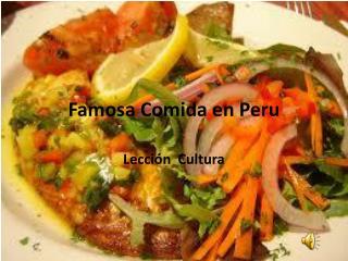 Famosa  Comida en Peru