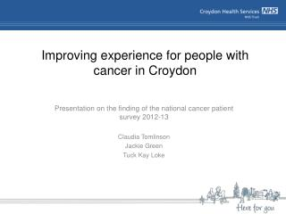 Improving experience for people with cancer in Croydon