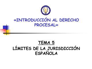 «INTRODUCCIÓN AL DERECHO PROCESAL» TEMA 5 LÍMITES DE LA JURISDICCIÓN ESPAÑOLA