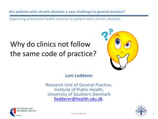 Why do clinics not follow  the same code of practice?