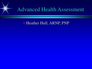 Advanced Health Assessment