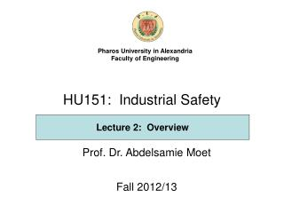 HU151:  Industrial Safety
