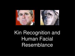Kin Recognition and Human Facial Resemblance