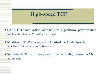 High-speed TCP
