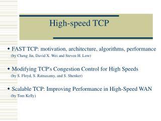High-speed TCP