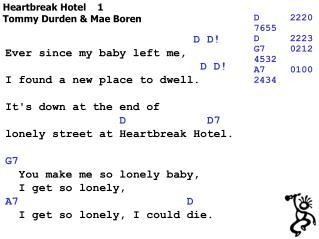 Heartbreak Hotel    1 Tommy Durden & Mae Boren