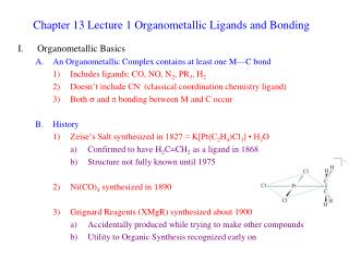 Chapter 13 Lecture 1 Organometallic Ligands and Bonding