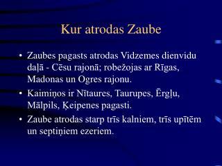 Kur atrodas Zaube