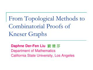 From Topological Methods to Combinatorial Proofs of Kneser Graphs